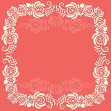 Frame of floral elements. Vector frame in gzhel Royalty Free Stock Photography
