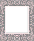 Frame with floral elements. Vintage Frame with floral elements for greeting cards and invitations Stock Photo
