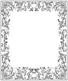 Frame with floral elements. Vintage frame with floral elements and stylish ornament Royalty Free Stock Images