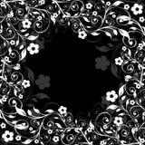 Frame floral em um fundo preto Fotografia de Stock Royalty Free