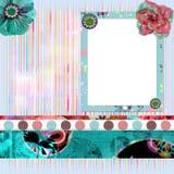 Frame floral gasto da foto Fotos de Stock