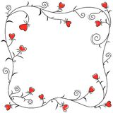 Frame of floral hearts Royalty Free Stock Image