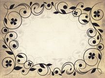 Frame with floral motif Royalty Free Stock Photography