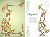 Frame with floral ornament Royalty Free Stock Image