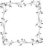 Frame with floral ornament on a white background Royalty Free Stock Photography