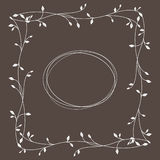 Frame with floral ornament Royalty Free Stock Photography