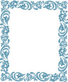 Frame with floral ornaments Royalty Free Stock Photos