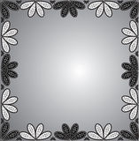 frame of floral ornaments Royalty Free Stock Images