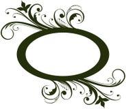 Frame floral oval Imagens de Stock Royalty Free