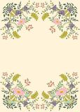 Frame floral para seu projeto Foto de Stock Royalty Free