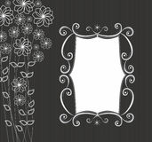 Frame with floral pattern Royalty Free Stock Image