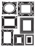 Frame with a floral pattern element set Stock Image