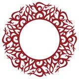 Frame floral redondo Ilustração do Vetor