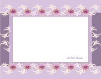Frame floral retangular Fotos de Stock Royalty Free