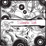 Frame floral retro ilustração stock