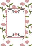 Frame floral retro Fotografia de Stock Royalty Free