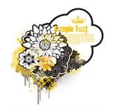 Frame floral retro ilustração do vetor