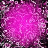 Frame floral vívido violeta ilustração stock