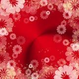 Frame floral vermelho abstrato Foto de Stock Royalty Free