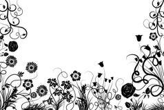 Frame floral, vetor ilustração stock