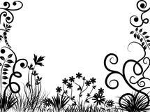 Frame floral, vetor ilustração royalty free