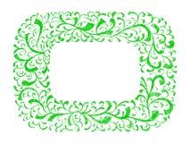 Frame floral Vetor tirado mão do giz Imagens de Stock Royalty Free