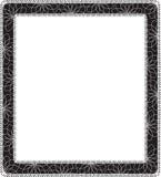 Frame. Floral vintage frame. Vector illustration Stock Photography
