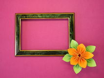 Frame and flower Royalty Free Stock Photography
