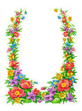 Frame flower. Ornamental, from various flowers Royalty Free Stock Image