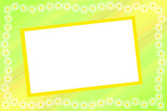 Frame with a flower border Royalty Free Stock Photography