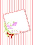 Frame with flower Stock Images