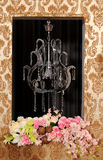Frame and flower and lamp Royalty Free Stock Photography