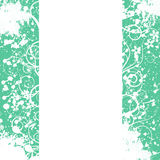 Frame from flower ornaments, white background Royalty Free Stock Image