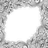 Frame flower pattern Stock Photo