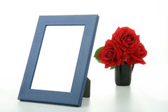 Frame and flower picture Royalty Free Stock Image