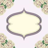 Frame with flower in purple background Stock Photography