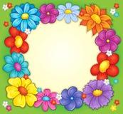 Frame with flower theme 2 Stock Photos