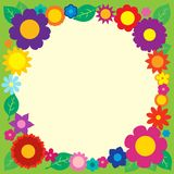 Frame with flower theme 5 Royalty Free Stock Photos