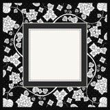 Frame of flower, vector royalty free illustration