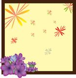 Frame with flower Stock Photography