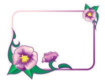 Frame with flowers. Frame with lilac flowers and leaves Royalty Free Stock Image