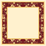 Frame with Flowers. Detailed Frame image with flowers in yellowish and salmon colors Royalty Free Stock Image