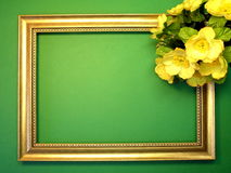 Frame and flowers Stock Photos