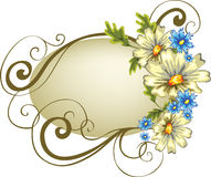 Frame with flowers Royalty Free Stock Images