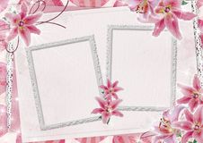 Frame with flowers Royalty Free Stock Photos