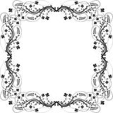 Frame flowers. Silhouette -  illustration Royalty Free Stock Image