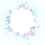 Frame of flowers vector illustration