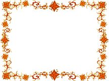 Frame from flowers. And curves of orange color Stock Image