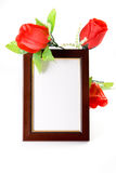 Frame with flowers Stock Photography