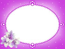 Frame of flowers. additional file png. royalty free stock images